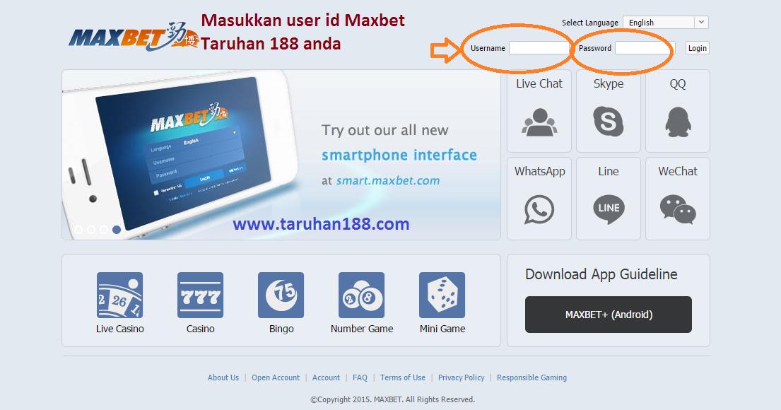 cara daftar maxbet indonesia