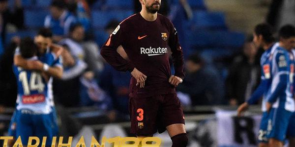 Pique Akui Kekalahan Barcelona Atas Espanyol dan Tak Mau Beralasan