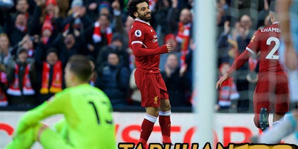Salah Tembus 20 Gol di Liverpool Lewat Tendangan Kaki Kiri