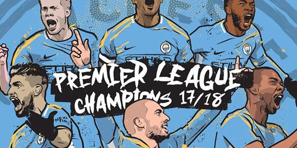 Para Pemain City Rayakan Juara Premier League via Media Sosial