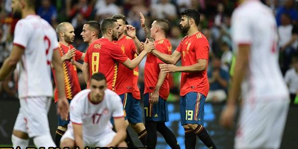 Gol Tunggal Iago Aspas Bawa Spanyol Tundukan Tunisia